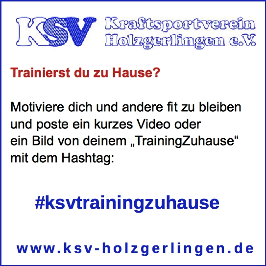 KSV TrainingZuhause